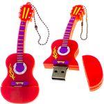 Флешка Гитара 16 Гб (Красная) В открытом и закрытом виде