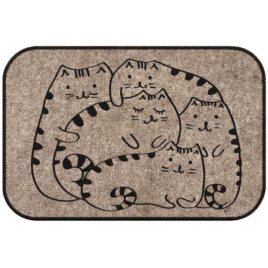 Коврик для входной двери Коты отдыхают