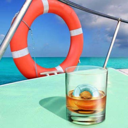 Форма для льда Спасательный круг Drink Savers