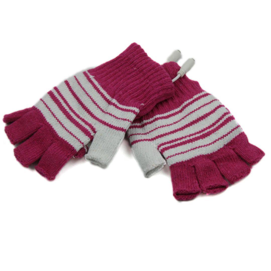 Перчатки с подогревом от USB Розовые