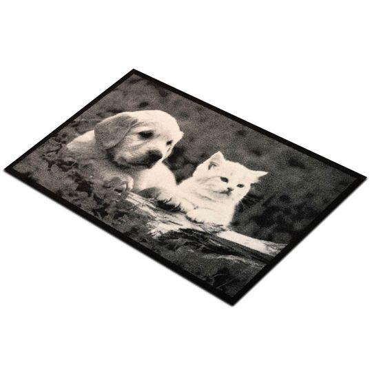Коврик для входной двери Кот и Пес