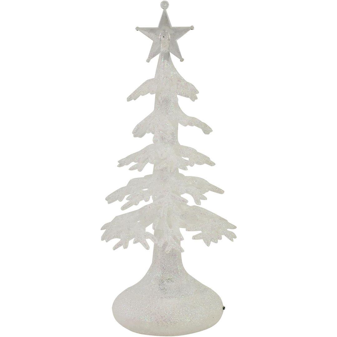 Светящаяся снежная новогодняя елочка
