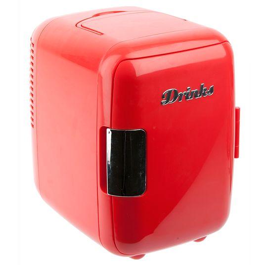 Холодильник с функцией подогрева для авто (4 л, 12В и 220В) (Красный)