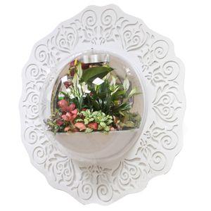 Настенный флорариум Flandriss Белые узоры