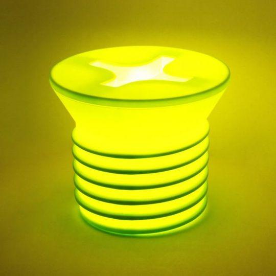 Светильник Винт (Салатовый) Сменная лампочка на 25 Вт