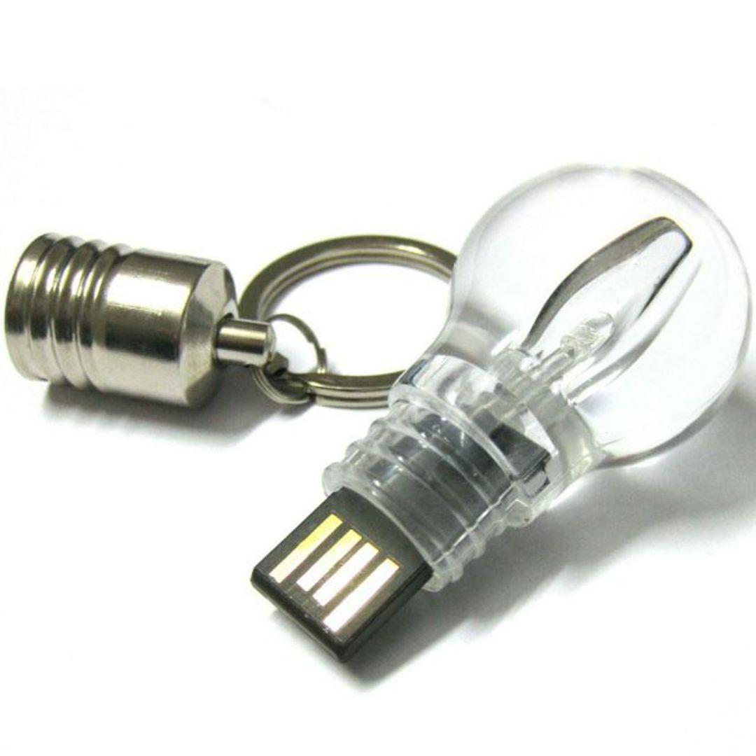 Флешка Лампа накаливания 8 Гб Со снятой крышкой