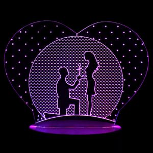3D Лампа Признание в любви