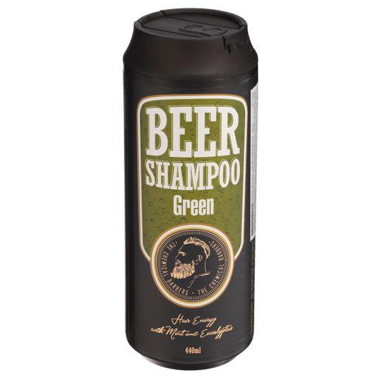 Пивной шампунь с мятой и эвкалиптом Beer Shampoo Green