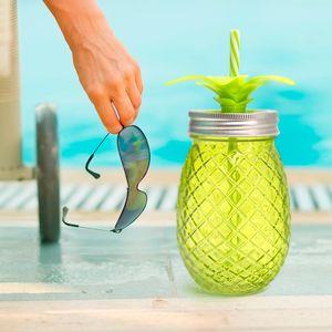 Набор стаканов с крышкой и трубочкой Ананас Tropico (500 мл)