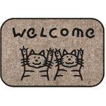 Коврик для входной двери 2 кота Welcome!