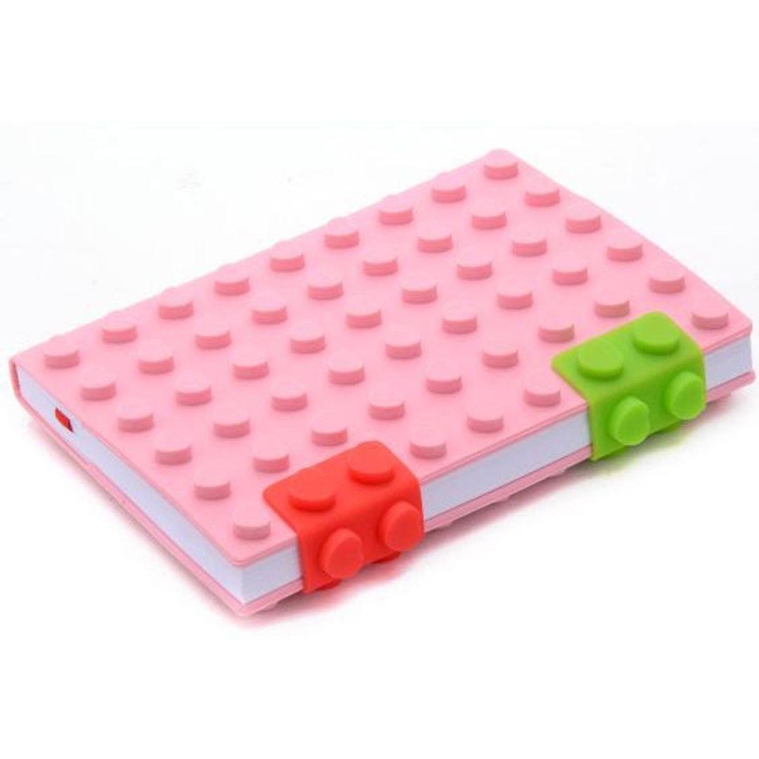 Блокнот Лего Маленький Розовый, кружочки