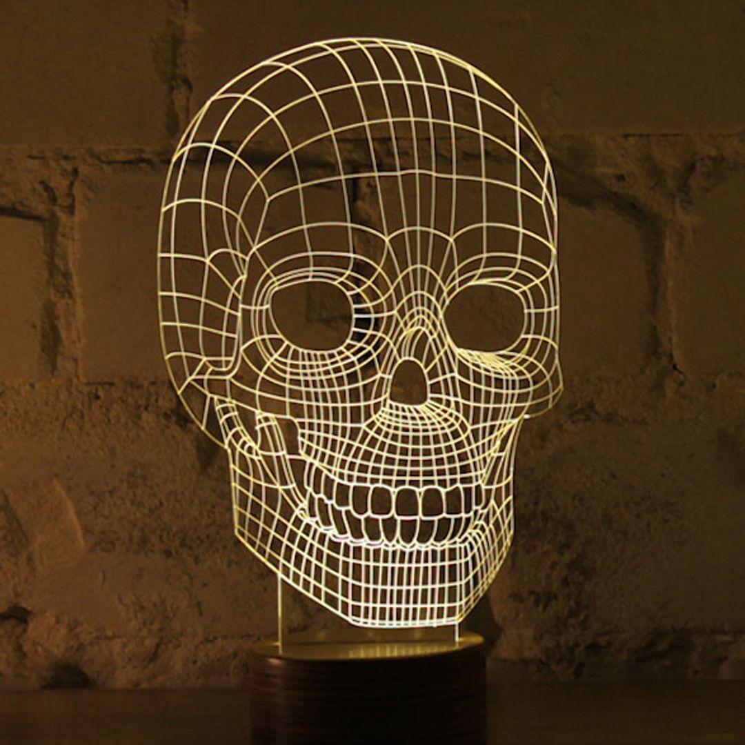 3D Лампа Череп