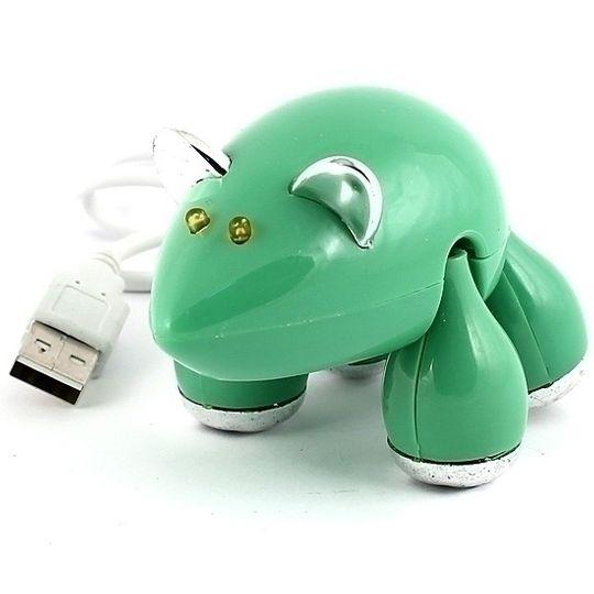 USB Хаб Мышь (Зеленый)