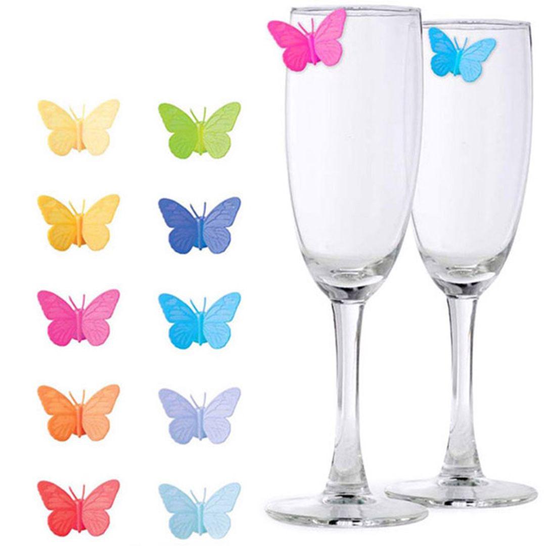 Маркеры для стаканов Бабочки Drink Wings (10 шт)