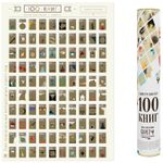 Скрэтч-постер 100 книг