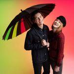 Зонт-трость Спектр (черный неон)