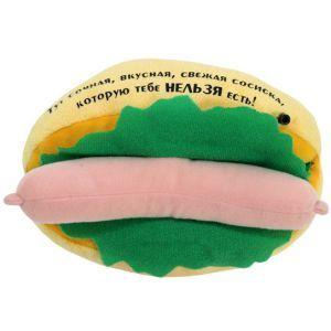 Говорящий магнит на холодильник Бутерброд с сосиской для похудения