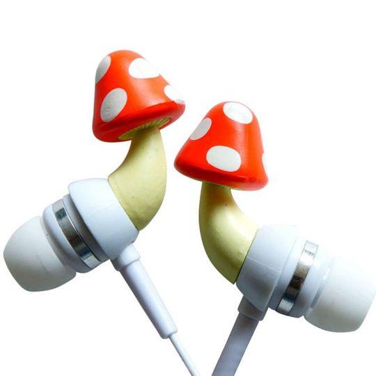 Crazy Earphones Наушники Грибы