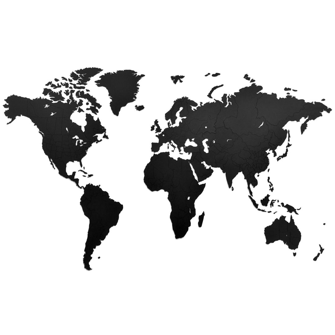 Пазл Карта мира True Puzzle Black