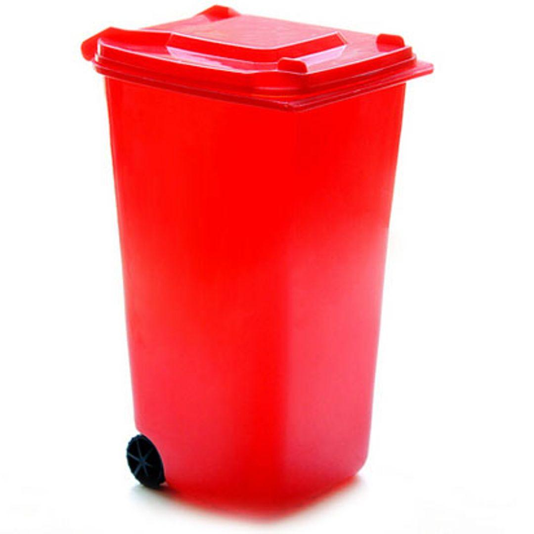 Настольный органайзер Урна — красный
