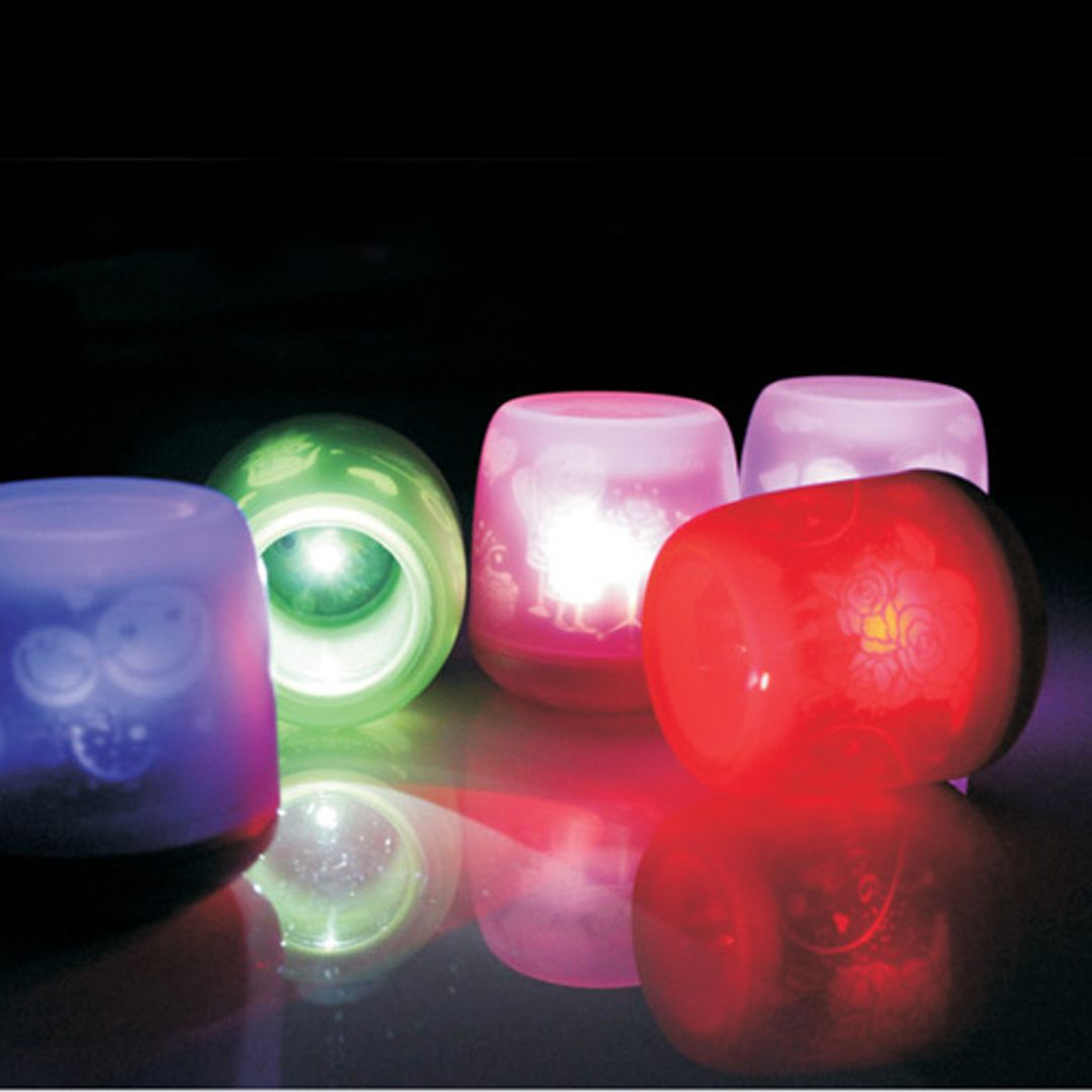 Электронная свеча (Фиолетовая, салатовая, оранжевая, розовая, красная)
