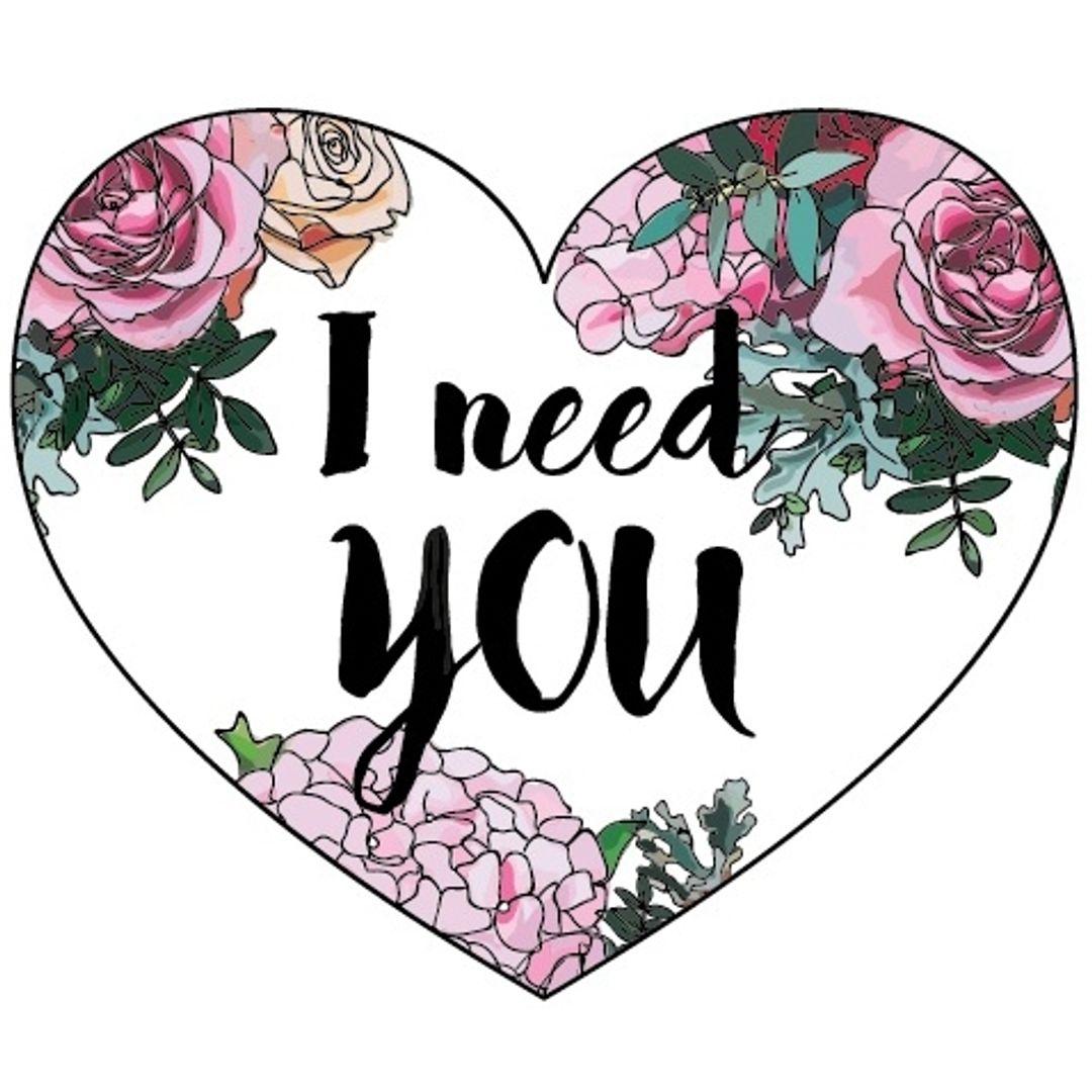 Открытка Сердечко I need you