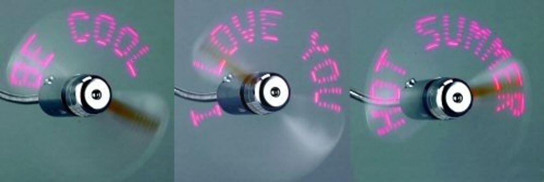 USB Вентилятор с текстовыми эффектами