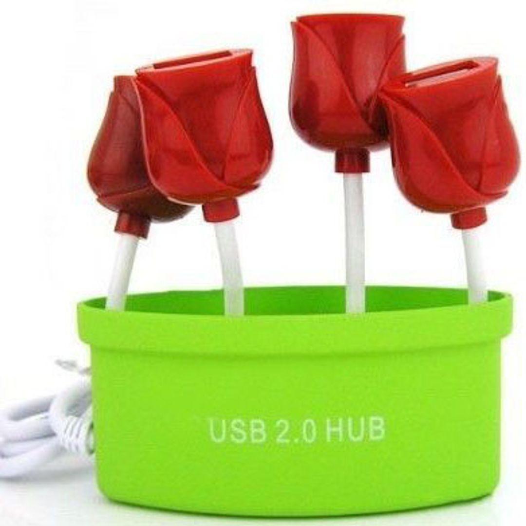 USB Хаб Букет роз (Салатовый)