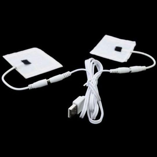 Перчатки с подогревом от USB Черные