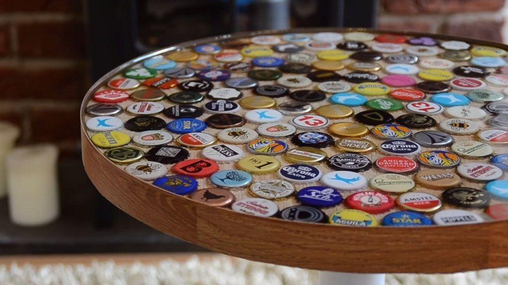 Крышечки пива в интерьере