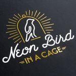 Светильник Неоновая птица в клетке Neon Bird