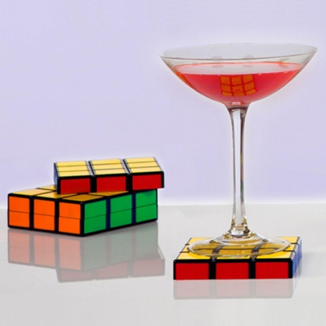Подставки под кружки Кубик Рубика 6 шт.