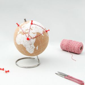 Пробковый мини-глобус Mini Cork Globe (белый)