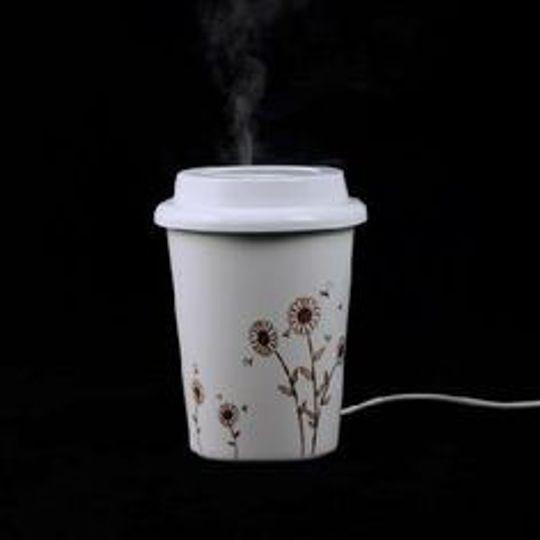 USB Увлажнитель воздуха Стакан с кофе (Подсолнухи)