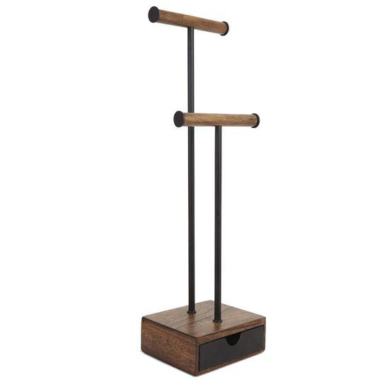 Подставка для украшений Pillar (Черный, орех)