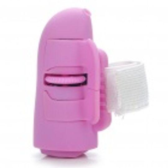 Мышь - напальчник Беспроводная Розовая