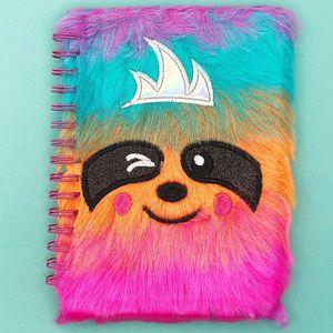Блокнот плюшевый Радужный Ленивец Color Sloth