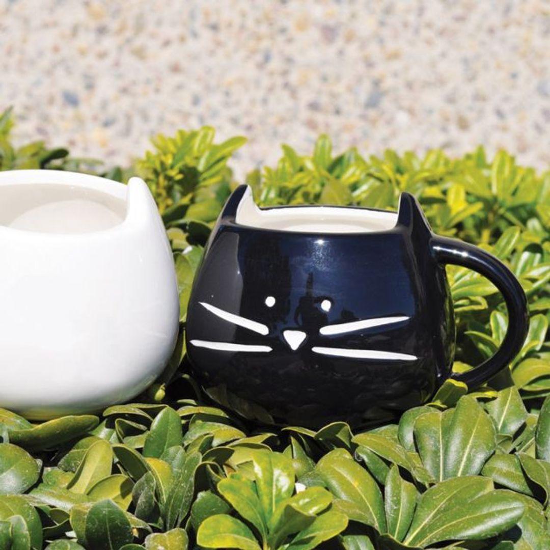 Кружка Котенок (Черная и белая)