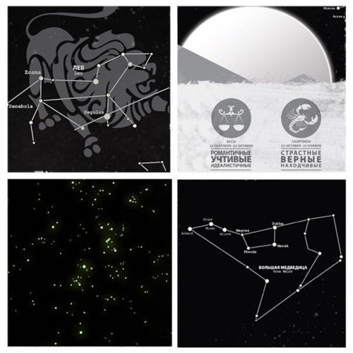 Светящаяся карта созвездий Star Light Map купить