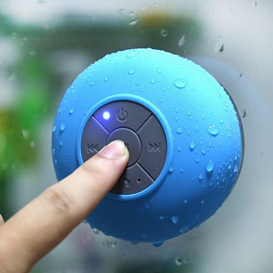 Водонепроницаемый Bluetooth динамик для душа (Голубой) Использование