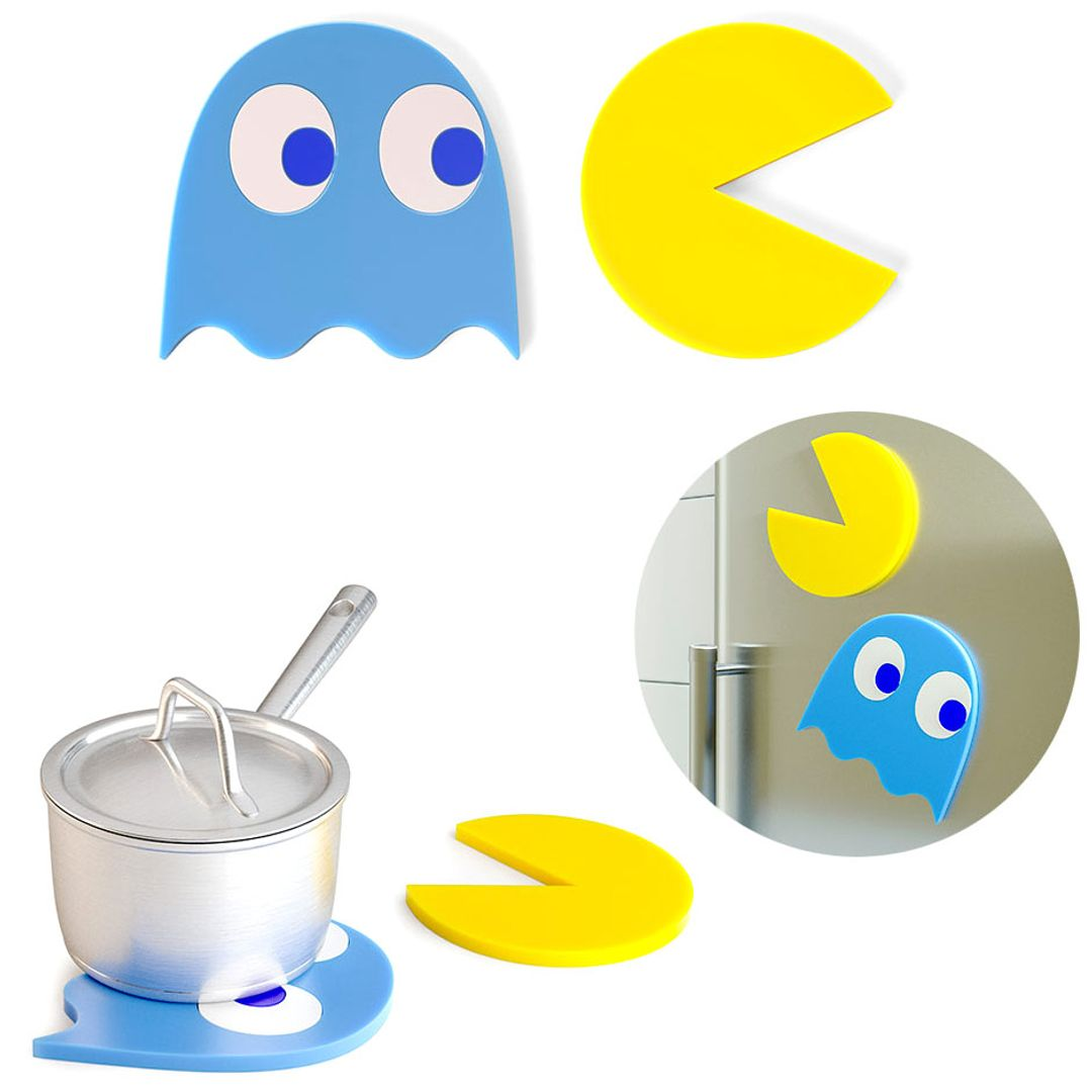 Подставки под горячее Pac-Man trivet (на магнитах) (2 шт).