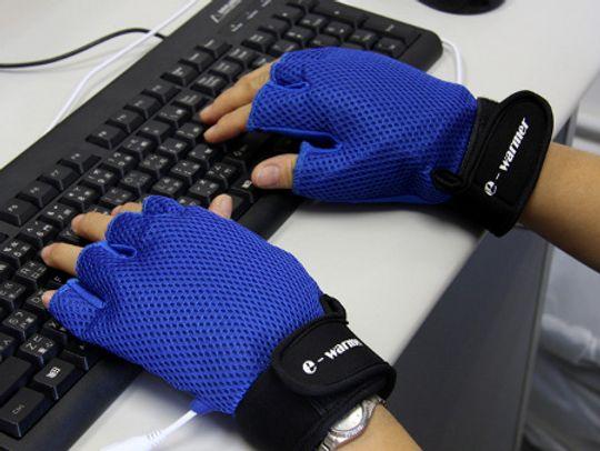 Перчатки с подогревом от USB e-warmer Синие