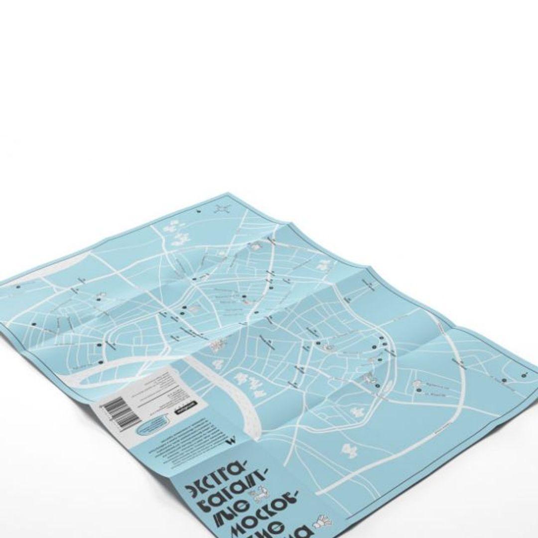 Путеводитель Экстравагантные московские дома В развернутом виде, сторона с картой