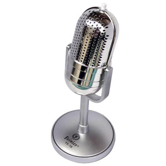 Микрофон Ретро (Серебристый)