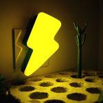 Ночник Молния (Желтый с черным) Использование