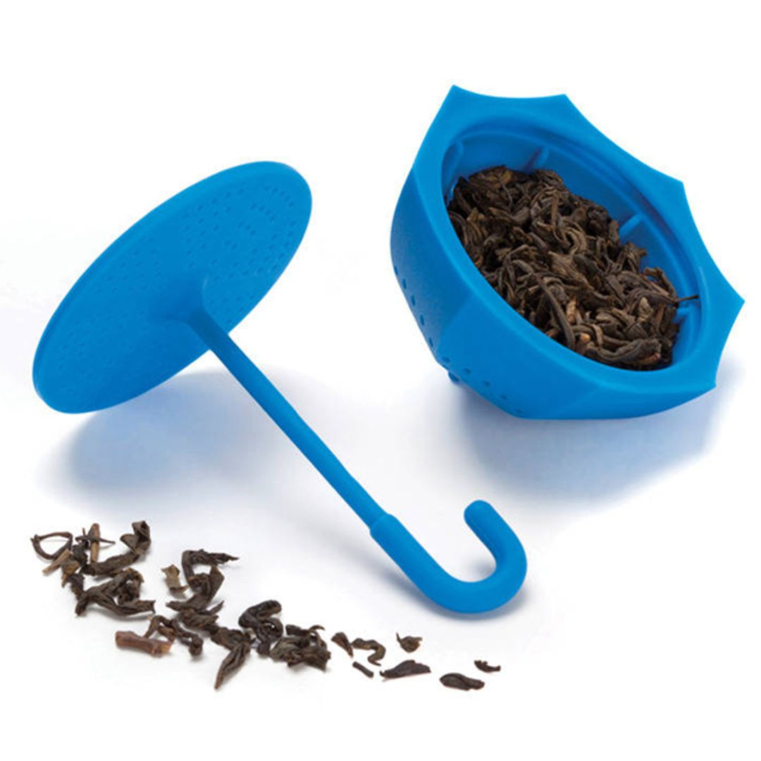 Заварник для чая Зонтик (Синий) Открытый с заваркой