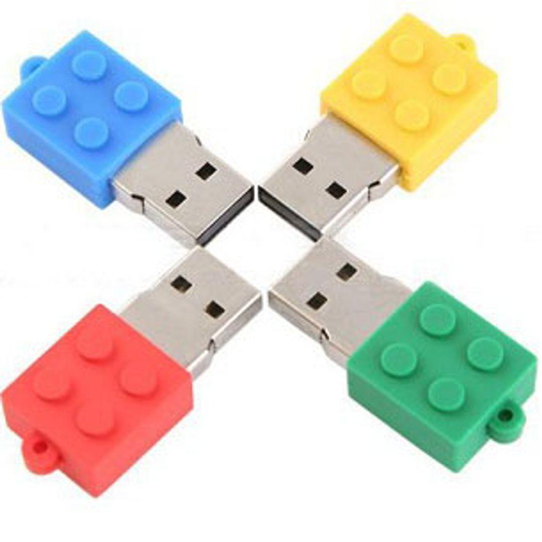 Флешка Лего 8 Гб Разные цвета, без крышек