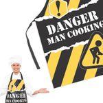 Фартук Опасно! Мужчина готовит! Danger! Man Cooking!