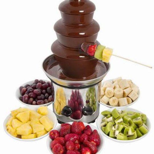 Шоколадный фонтан 3 яруса