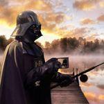 Эмалированная кружка Darth Vader На рыбалке